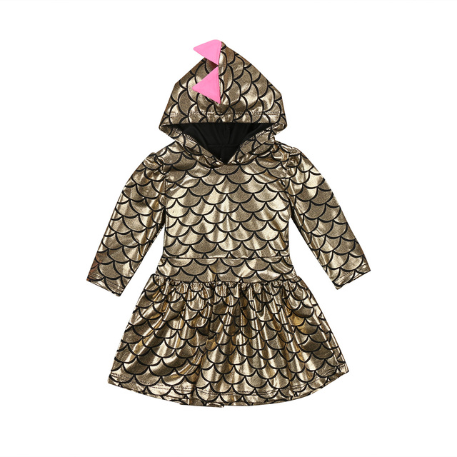 Gold Fish Scale Pattern Dinosaur Infant Baby Kid Girls Sequined Mermaid Princess Fancy A-Line  sc 1 st  AliExpress.com & Gold Fish Scale Pattern Dinosaur Infant Baby Kid Girls Sequined ...