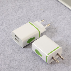 Image 3 - USB Charger Dual 2 port EU 5V 2A Travel Wall Adapter LED Light Mobile Phone usb charger For iPhone 11 Pro Max Samsung Huawei LG