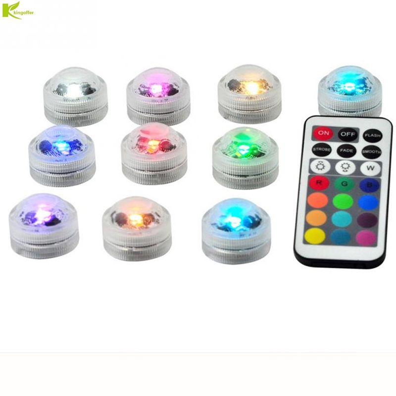 10 Stücke Badewanne Lampe Mit Fernbedienung Mini Outdoor Rgb Tauch Led Licht Multicolor Unterwasser Licht Hause Vase Dekor Lampe Einfach Zu Verwenden