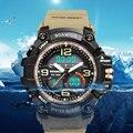 Мужские спортивные армейские часы BOAMIGO  кварцевые цифровые часы с LED подсветкой  водонепроницаемые часы
