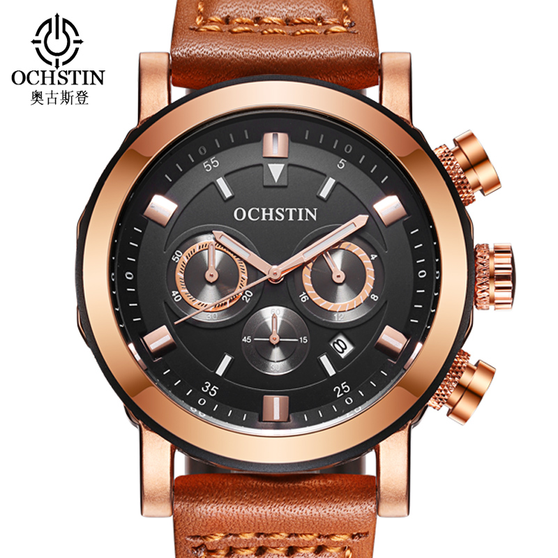 OCHSTIN Reloj Hombre 2017 Mens Watches Top Brand Luxury Sport Watch Men Waterproof Quartz Wristwatches for Men Clock Male Hour mens watch top luxury brand fashion hollow clock male casual sport wristwatch men pirate skull style quartz watch reloj homber