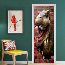 2 Pcs/set Creative 3D Dinosaur Wall Stickers Bedroom Home Decoration Poster PVC Waterproof Door Stickers Imitation & Popular Dinosaur Bedroom Set-Buy Cheap Dinosaur Bedroom Set lots ... Pezcame.Com