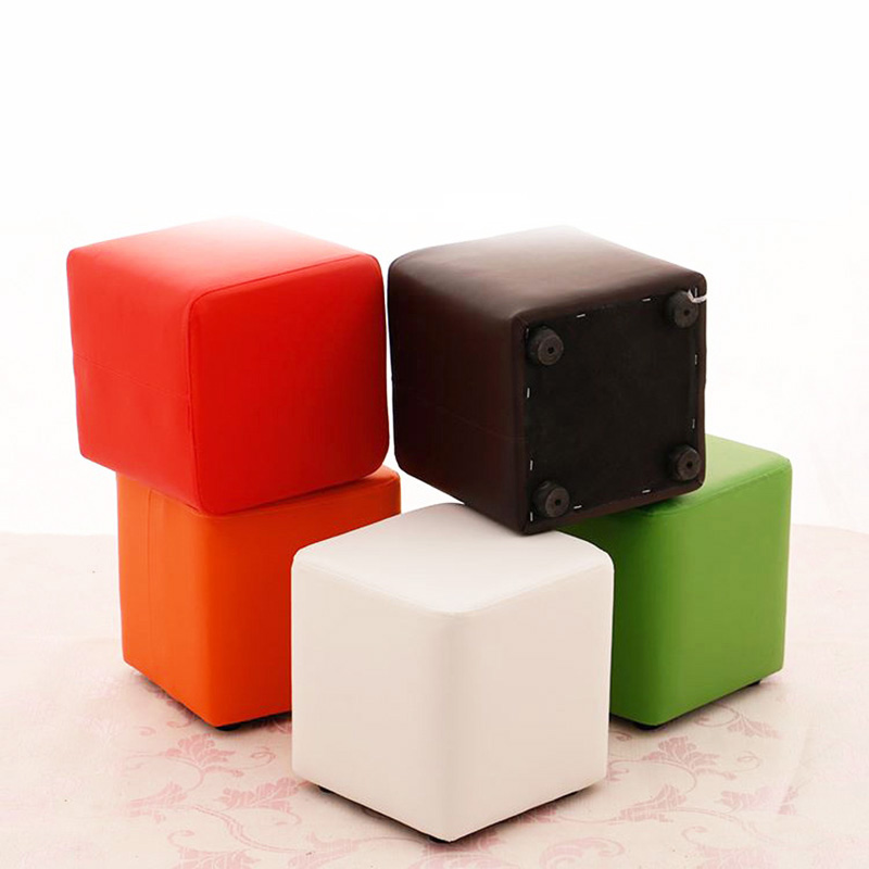 Fashion Low Stool Change shoes Stool living room sofa Ottoman Creative Coffee Table Stool Leather bench Home Furniture fashion creative bench household fruit stools solid wood sofa stool bedroom living room fabric stool home furniture