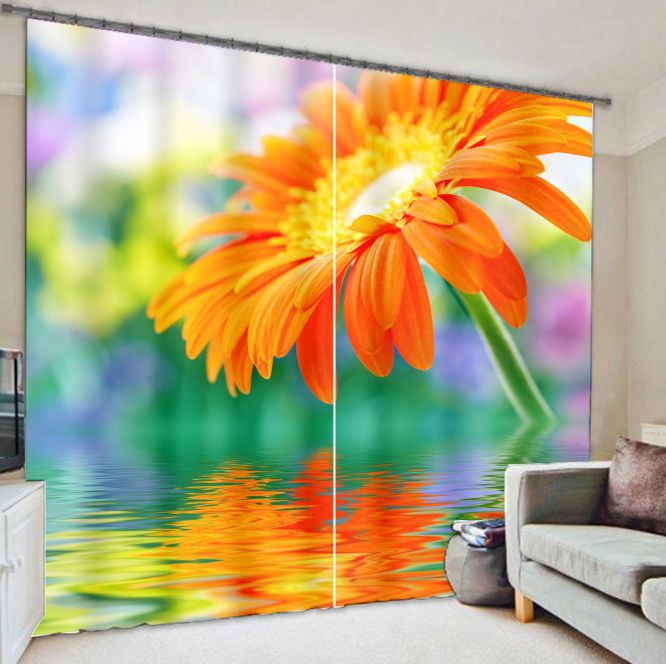 Blackout Fabric Sunflower 3D Decorative Window Curtains For Living room Bedding room  Drapes Cortinas para sala For ChristmasBlackout Fabric Sunflower 3D Decorative Window Curtains For Living room Bedding room  Drapes Cortinas para sala For Christmas