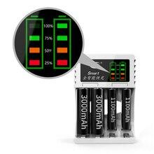 2 цвета 4 слота светодиодный зарядное устройство для аккумуляторов умный перезаряжаемый аккумулятор зарядное устройство s для AA/AAA Ni-MH/Ni-Cd аккумуляторная батарея