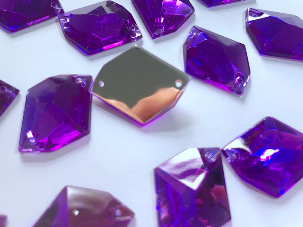 Belle brillant dark amethyst loose strass gemmes aaa