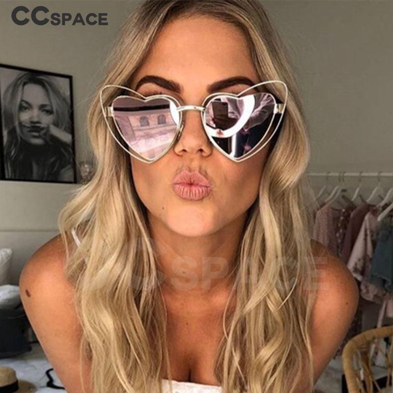 Heart Shaped Sunglasses Women Luxury Sexy Cute Shades Brand Glasses Fashion 47715