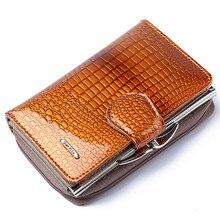 New 2018 Bags Card Case Patent Leather Wallet Women Short Long Zipper Buckle Womens NB031