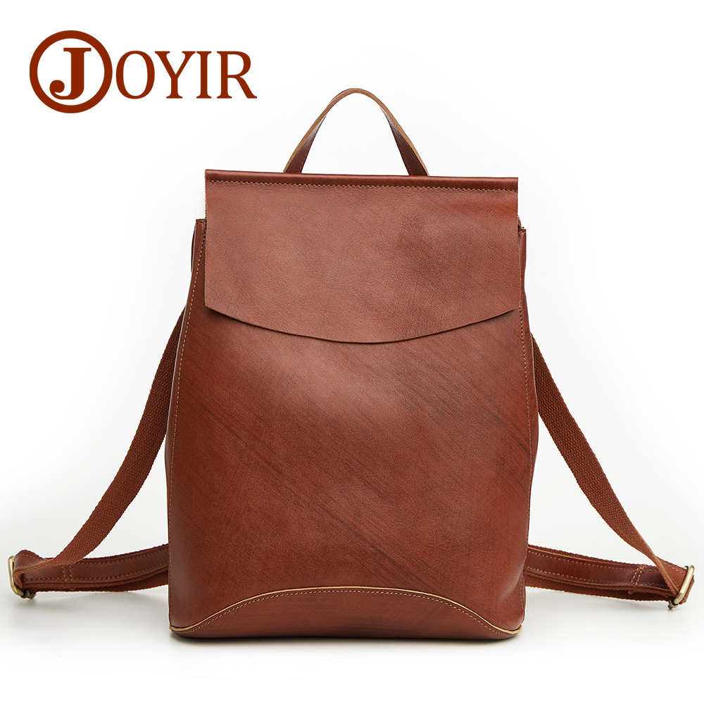 JOYIR Genuine Leather Women Backpacks Fashion Backpack For Teenage Girls Casual Bags Female Shoulder Bags Mochila Schoolbag real leather backpack 100% genuine leather women satchel cow leather patchwork backpacks schoolbag for teenage girls rivet bags