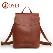 JOYIR Genuine Leather Women Backpacks Fashion Backpack For Teenage Girls Casual Bags Female Shoulder Mochila Schoolbag