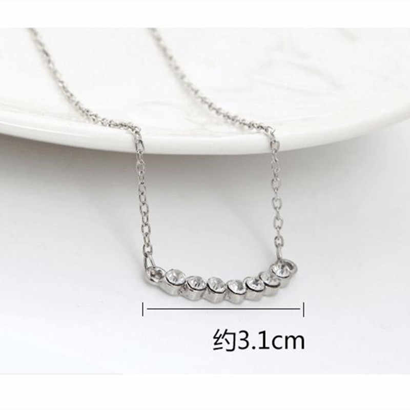 2018 The Latest Female Fashion Silver Plated Crystal Necklace Smile Little Star Pendant Necklace Jewelry Wholesale  CND237