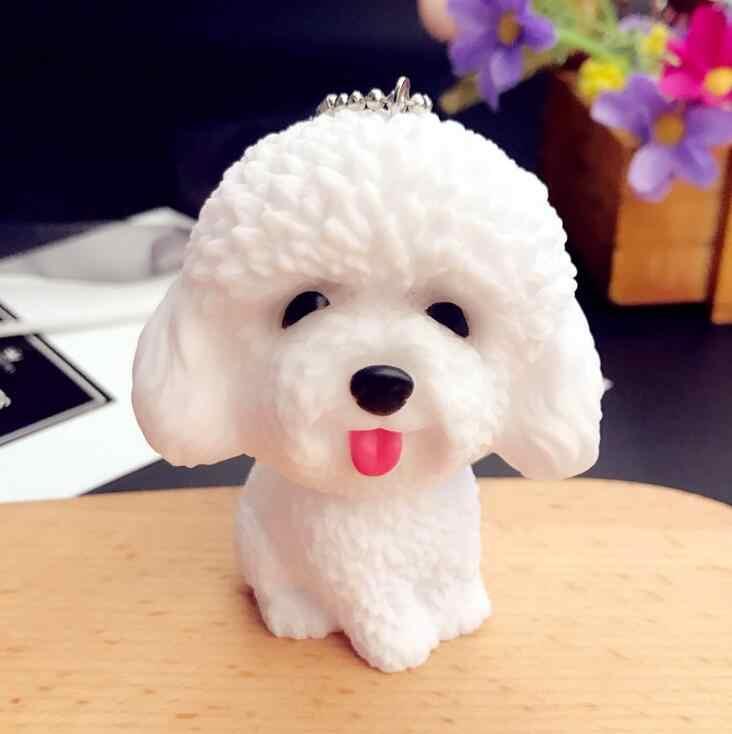 การ์ตูน 3D น่ารักสัตว์เลี้ยงสุนัข Bulldog รถพวงกุญแจสัตว์น่ารัก Husky พวงกุญแจกระเป๋า Charm Trinket ของเล่นสำหรับชายหญิงเครื่องประดับ Gfit