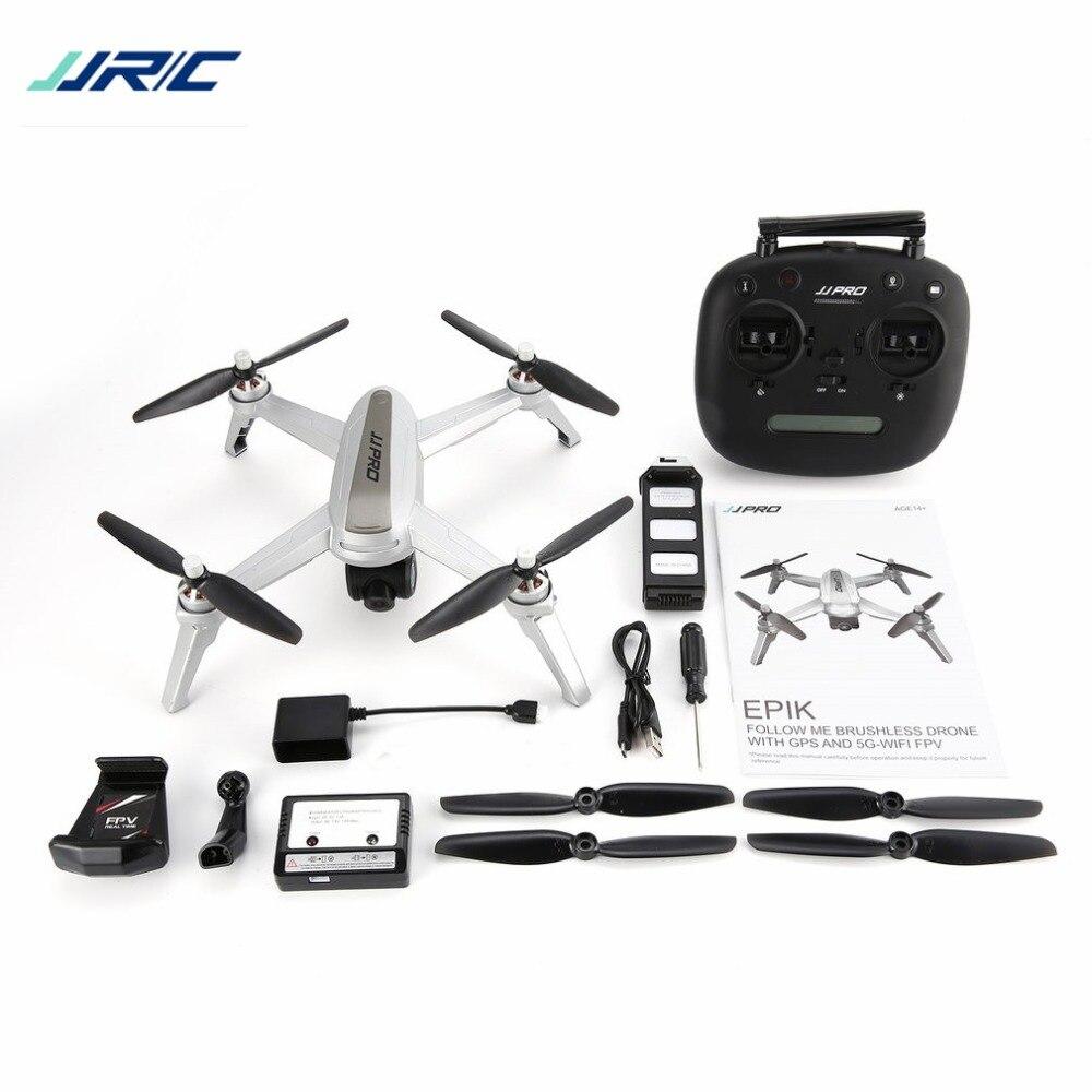JJPRO X5 2.4G GPS Positionnement 1080 P HD 5 GWIFI Réglable Caméra FPV Drone Sans Balais RC Drone quadrirotor Un Retour de Clé