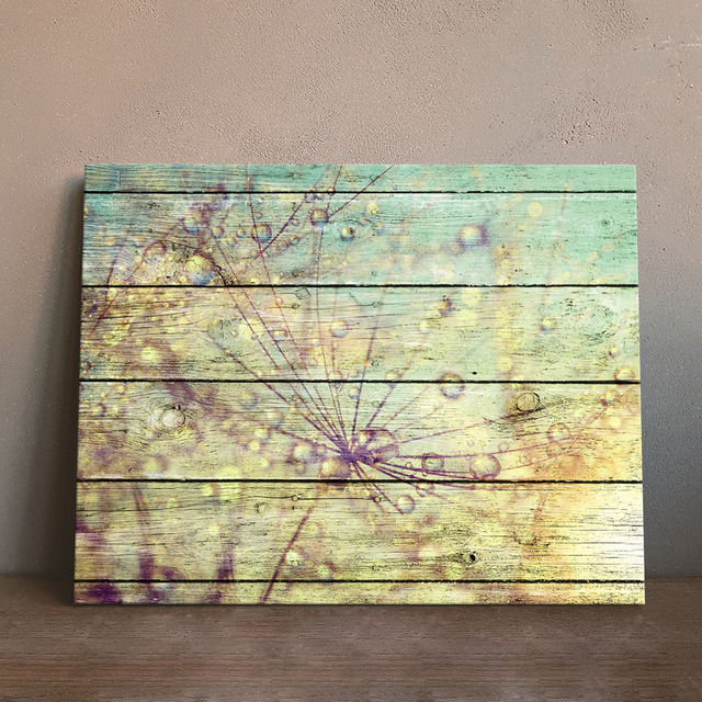 Art Print Oil Painting Dew Framed Wood Pattern Home/Store/Room Decor ...
