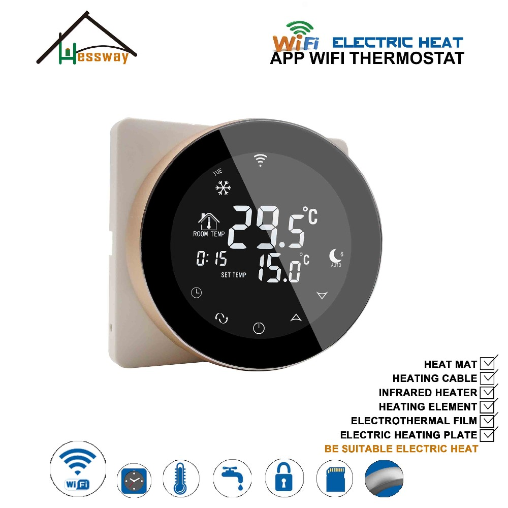 Electrothermal film central heating weekly programmable underfloor heating thermostat wireless WIFI for electric floor heating
