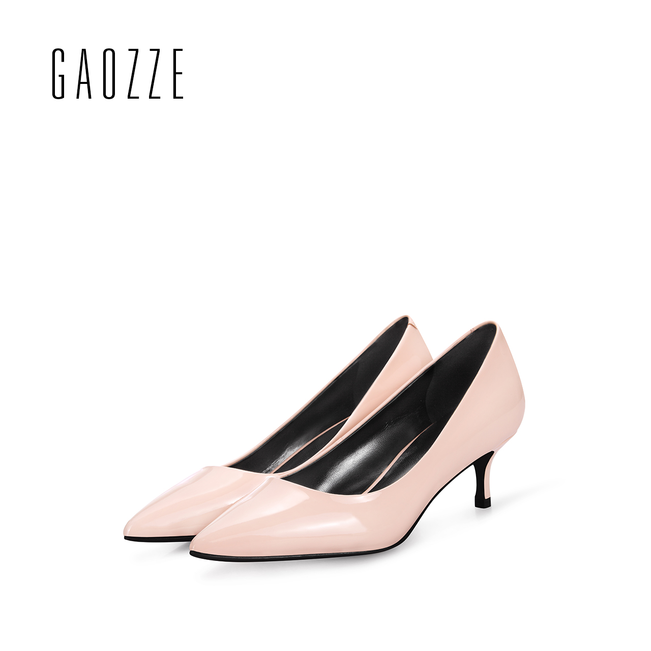 GAOZZE Pointed Toe 4.5CM Stilettos Kitten Heels Genuine Leather Women Shoes Pumps Solid Color Female High Heels Office Shoes bigtree office lady dress shoes women high heels pointed toe solid string bead sandals concise slingback shoes stilettos 34 40