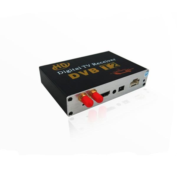 KANOR Car Digital DVB-T2 HD 1080 P Externo Tuner Auto 100 Km/h Receptor de TV Digital Set Top Box DVB-T2