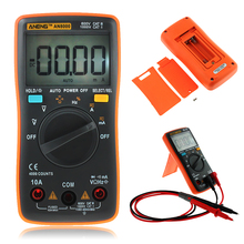 AN8000 4000 Counts Portable Digital Multimeter LCD Display Auto Range AC/DC Voltage Ammeter Multimeter With Storage Bag