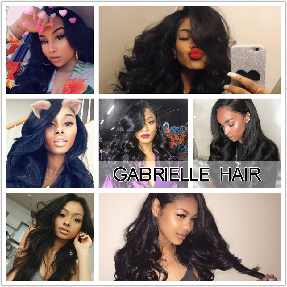 body(1)  Gabrielle Hair Brazilian Physique Wave Hair Three Bundles with Closure Pure Coloration 100% Non-remy Human Hair Weave Bundles With Closure HTB1wOgushSYBuNjSspjq6x73VXar