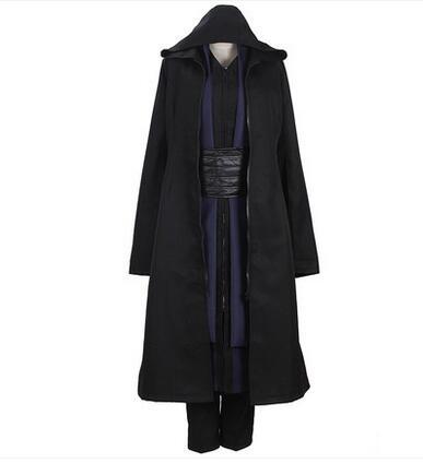 Jedi costume cosplay noir manteau ensemble complet custom made unisexe