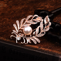 Broches elegantes Fox/boca/folha de Zircão Mulheres Casamento/Xmas Party Decoração Ternos de Vestido Broche de Pino de Jóias Suprimentos accessorize