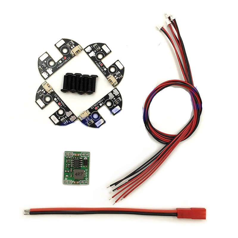 4x Red Green 5v Night Flight LED Light for F330 F450 F550 Multicopter Quadcopter