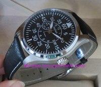44มิลลิเมตรparnisคริสตัลแซฟไฟร์ญี่ปุ่น8255อัตโนมัติลมตนเองกลไกนาฬิกาผู้ชายนาฬิกาส่องสว่างนาฬิ...