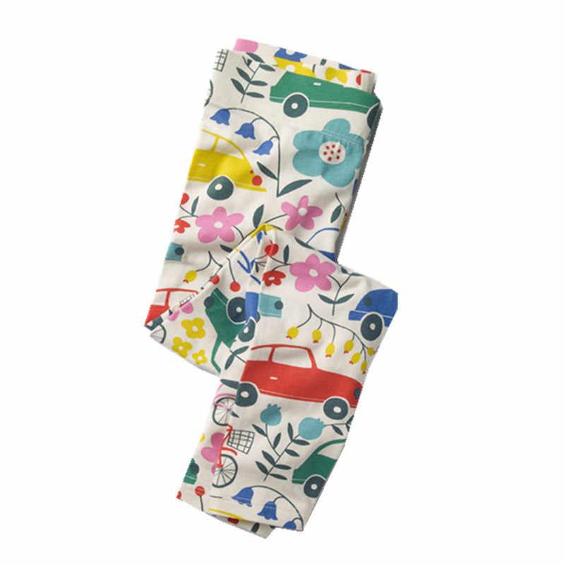 Nhảy mét Bé gái cotton dệt kim Quần Legging quần in hoa thời trang trẻ em quần bút chì trẻ em bé gái quần áo quần legging