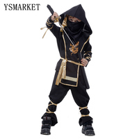 2017 Kids Ninja Costumes Halloween Party Boys Girls Warrior Stealth Children Cosplay Assassin Costume E0100