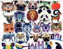 35Pcs Galaxy Animal Stickers Mixed Funny Cartoon Jdm Graffiti Decals Luggage Laptop Computers Bicycles DIY Waterproof