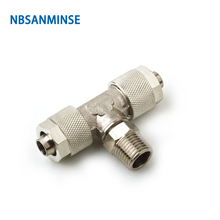 10Pcs/lot BT Push On Fitting Pipe Connection Tube Connector Sanmin