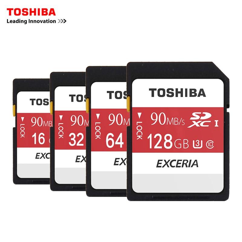 Toshiba SD Memory Card UHS U3 128Gb 90MB/s 600x 16GB 32GB SDHC Card SD 64GB SDXC Card For Digital SLR Camera Camcorder DV(11.11)