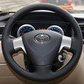 Steering Wheel Covers Case for Toyota Corolla 2006-2010 Corolla EX Genuine Leather DIY Hand-stitched Car-styling