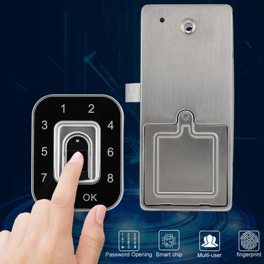 G12 serrure électronique de mot de passe d'empreinte digitale pour la banque à la maison de bureau d'armoire de chaussure de tiroir excluent la batterie
