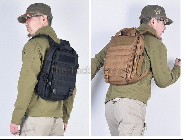 14 Laptop Bag Military Army Tactical Molle Backpack Hunting Hiking Camping Airsoft Outdoor