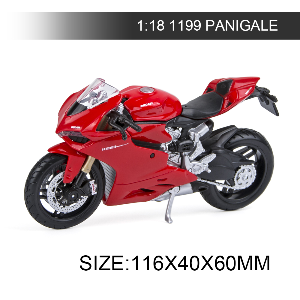Maisto 1:18 Motorcycle Models Ducati 1199 PANIGALE Red Diecast Moto Miniature Race Toy For Gift Collection