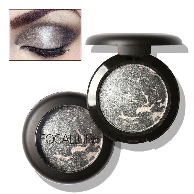 Focallure metallic eyeshadow maquillaje brillo sombra de ojos cosméticos mineral
