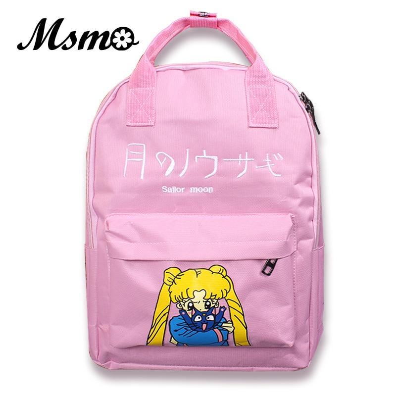 MSMO Japanese Samantha Vega Sailor Moon Women Backpack School Bags For Teenager Girls Book Bag Rucksack