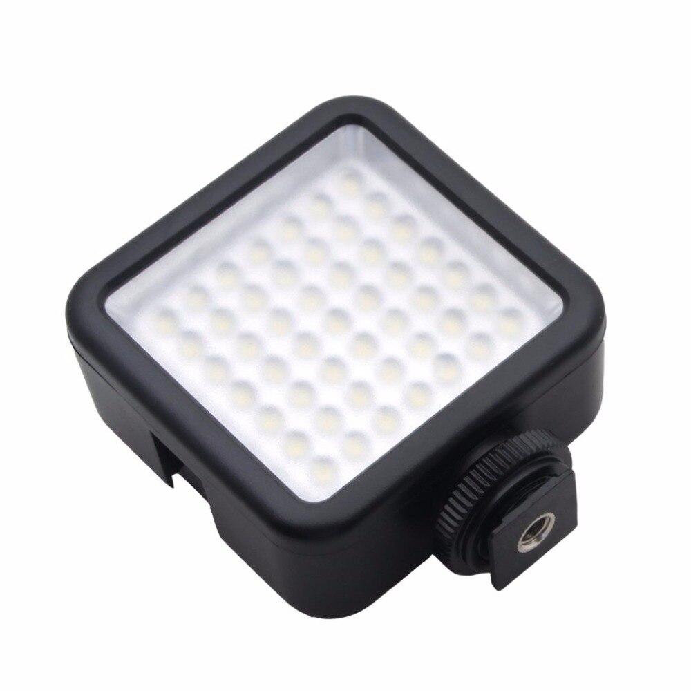 Alta calidad larga vida 5,5 W 800lm 6000 K Mini portátil 49 LED Video luz lámpara fotográfica iluminación foto cámara fotografía