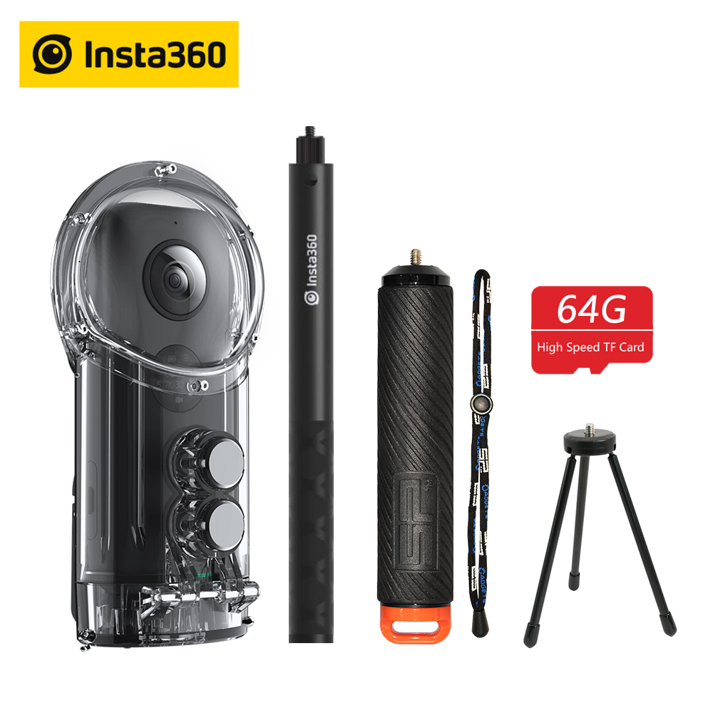 360°-video-kamera Hell Insta360 One X Action Kamera Vr 360 Panorama Kamera Für Iphone Und Android 5.7 K Video 18mp Foto Unsichtbare Selfie Stick In Den Spezifikationen VervollstäNdigen