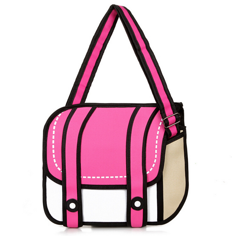 2016 hot sale women and men gismo cartoon bag 2d 3d messenger bag carry in  space shoulder bags Canvas good quality bags