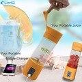 YFW 5200 mAh Cargador Portable 400 ML Taza de Jugo de Botella de Agua Eléctrico Multifunción Licuadora Exprimidor de Frutas Vegetales Herramientas de Banco de Potencia