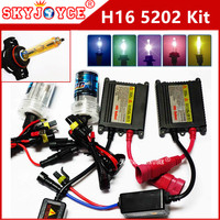 AC 12V EU H16 hid kit 35W hid 30000K Deep Blue H16 3000K 4300K 5000K 6000K 8000K H16 5202 xenon hid kit car styling accessory
