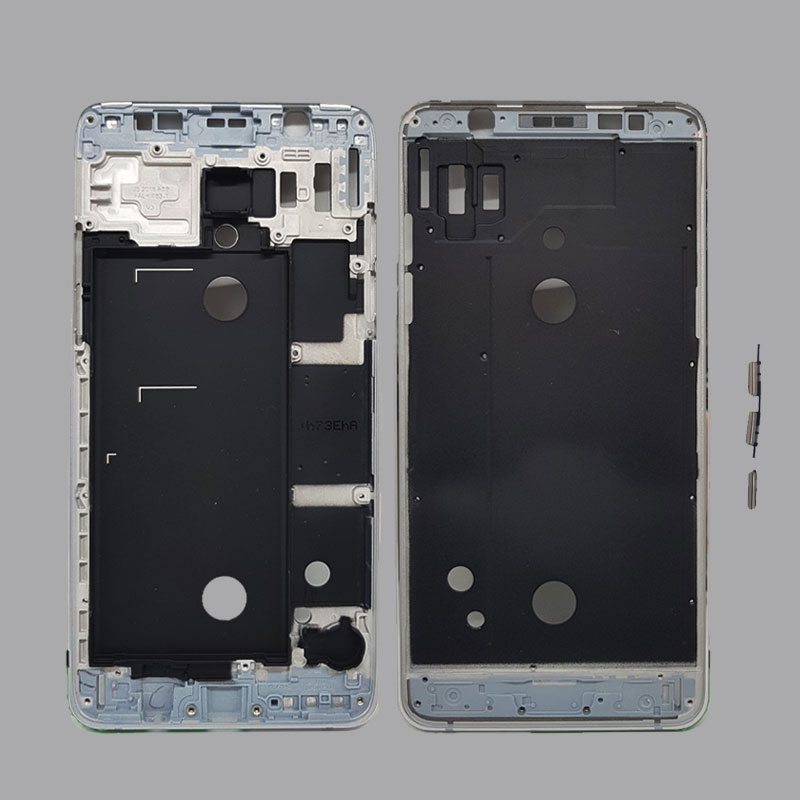LCD Front Frame Bezel Housing cover For Samsung Galaxy J5 J7 2016 J510 J710 Outer Middle Plate Frame+Power Volume Side Button