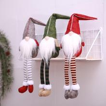 2019 Christmas Decoration Cute Sitting Long-legged Elf Festival New Year Dinner Party Tree Home Deocration
