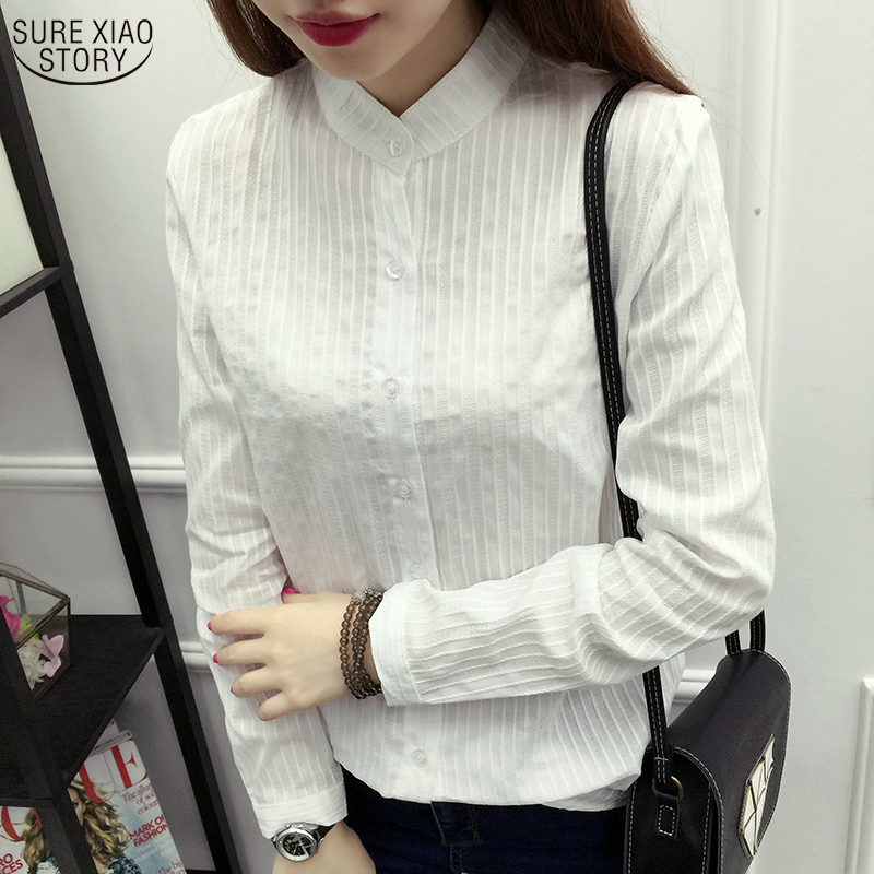 Aspiring Long Sleeved Shirt Bottoming Cotton 2019 New Fashion Autumn Japanese Female Fresh White Shirt Slim Korean Literature 327c 25 Attractive Appearance Women's Clothing