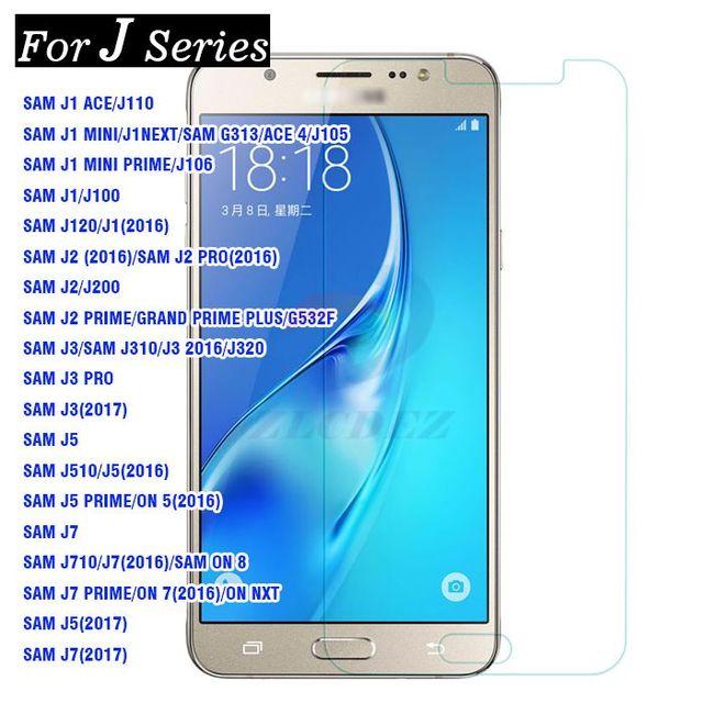 10 Pcs Lot J Serie Ecran En Verre Trempe Film Pour Samsung Galaxy J3 J5