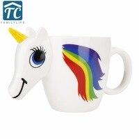 Cartoon Unicorn Mug Ceramic Color Changing Cup Original 3D Heat Sensitive Magic Coffee Mugs Unicorn Discoloration
