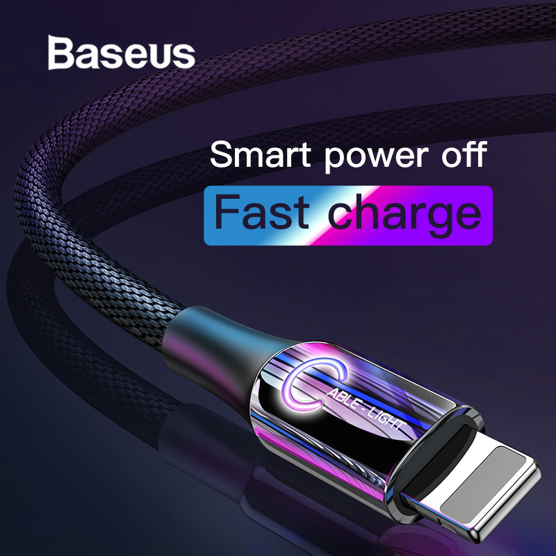 Baseus Intelligent Power Off USB Cable for iPhone x xs max Charging Cable C-Type Breathe