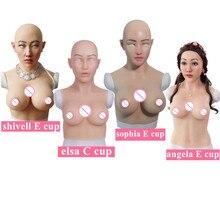 C E Cup Artificial Boobs Silicone Breast Forms Realistic Fake Silicone Face For Transgender Crossdresser Transvestism Dragqueen цена в Москве и Питере